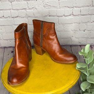 Frye Janis Shield Short boots ankle bootie cognac